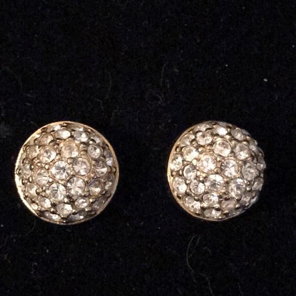 Jewelry - Crystal rhinestone pave dome stud earrings